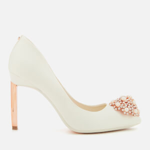 Ted Baker Women's Peetch 2 Satin Court Shoes - Ivory