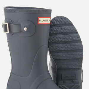 Hunter Women's Original Short Wellies - Dark Slate: Image 4
