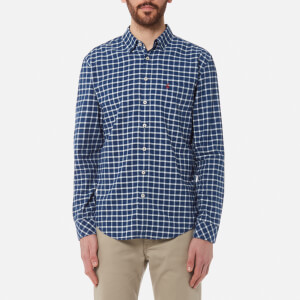 Joules Men's Welford Long Sleeve Shirt - Indigo Check