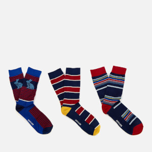 Joules Men's Socks and Shares Gift Set - Multi Stripe