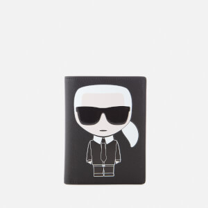 Karl Lagerfeld Women's K/Ikonik Passport Holder - Black