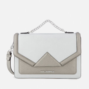Karl Lagerfeld Women's K/Klassik Shoulder Bag - Silver