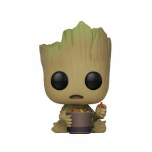 Guardians of the Galaxy 2 Groot with Candy Bowl EXC Pop! Vinyl Bobble Head Figure