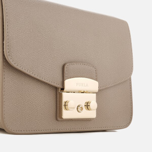Furla Women's Metropolis Small Cross Body Bag - Taupe Lizard: Image 4