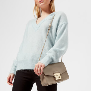 Furla Women's Metropolis Small Cross Body Bag - Taupe Lizard: Image 3