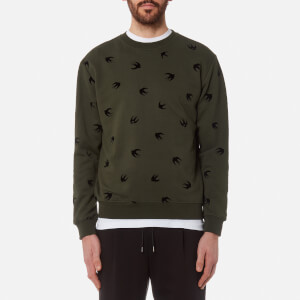 McQ Alexander McQueen Men's All Over Swallow Sweatshirt - Khaki