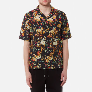 McQ Alexander McQueen Men's Billy Floral Print Shirt - Darkest Black