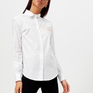 Love Moschino Women's Logo Shirt - Optical White