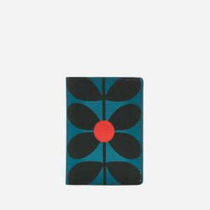 Orla Kiely Women's Sixties Stem Vinyl Travel Passport Cover - Kingfisher