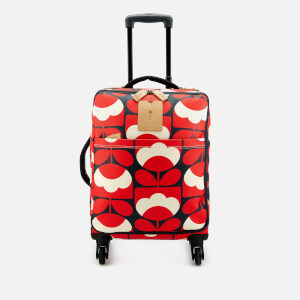 Orla Kiely Women's Spring Bloom Vinyl Travel Cabin Case - Ruby