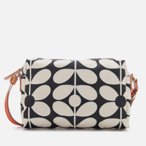 Orla Kiely Women's Sixties Stem Nylon Small Cross Body Bag - Charcoal Blue
