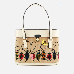 Orla Kiely Women's Embroidery Basket Connie Bag - Natural
