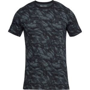 Under Armour Men's AOP Sportstyle T-Shirt - Black