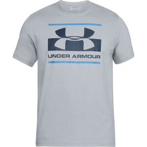 Under Armour Men's Blocked Sportstyle Logo T-Shirt - Grey