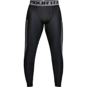 Under Armour Men's HG Armour Graphic Leggings - Black