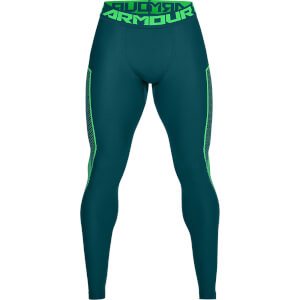 Under Armour Men's HG Armour Graphic Leggings - Green