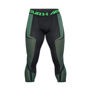 Under Armour Men's Threadborne Seamless 3/4 Leggings - Black/Green