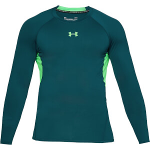 Under Armour Men's HG Armour Long Sleeved Top - Green