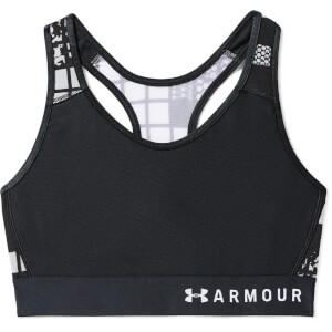 Under Armour Women's Armour Mid Keyhole Mesh Sports Bra - Black