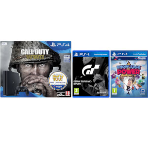 Sony PlayStation 4 Slim 500GB with Call of Duty: WWII, GT Sports & Knowledge Is Power