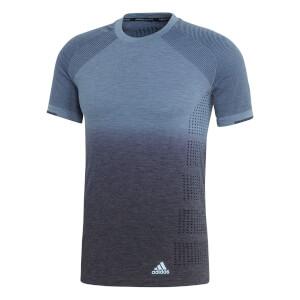 adidas Men's Ultra Primeknit Dip Dyed Running T-Shirt - Steel/Ink