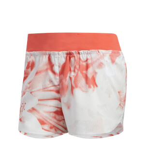 adidas Women's Supernova TKO Running Shorts - White/Scarlet