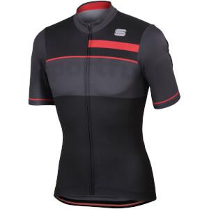 Sportful Squadra Corse Jersey - Black/Anthracite/Red
