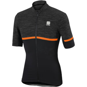Sportful Giara Jersey - Anthracite/Black/Orange