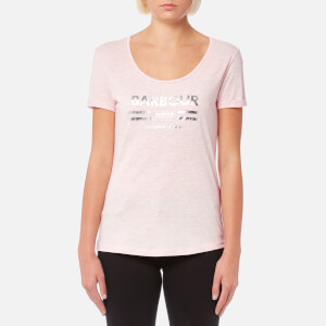 Barbour International Women's Leader T-Shirt - Pale Pink Marl