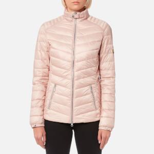 Barbour International Women's Triple Quilt Jacket - Pale Pink