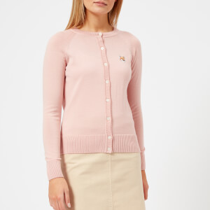 Maison Kitsuné Women's Fox Patch Merino Cardigan - Pink