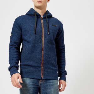 Superdry Men's Orange Label Urban Zip Hoody - Blue Black Grit