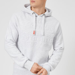 Superdry Men's Vintage Logo Authentic Emboss Hoodie - Ice Marl