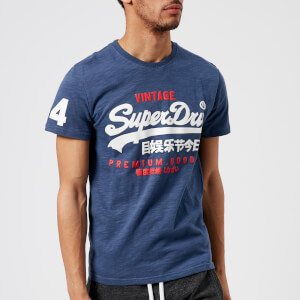 Superdry Men's Premium Goods Duo T-Shirt - Frontier Blue