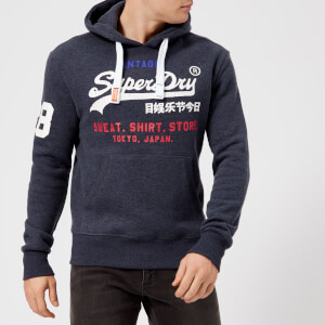 Superdry Men's Store Tri Hood Sweatshirt - Aurora Navy