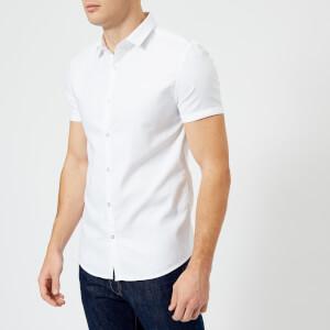 Superdry Men's Royal Oxford Slim Short Sleeve Shirt - Royal Optic