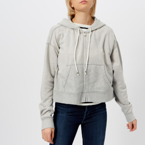 Polo Ralph Lauren Women's Oversized Cropped Zip Up Hoody - Grey Heather