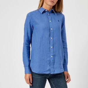 Polo Ralph Lauren Women's Logo Linen Shirt - Blue