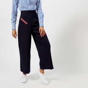 Polo Ralph Lauren Women's Relaxed Wide Leg Pants - Indigo Black