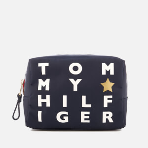 Tommy Hilfiger Women's Poppy Logo Print Wash Bag - Navy
