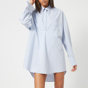 MM6 Maison Margiela Women's Cotton Stripe Shirt - Blue/White Stripes