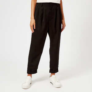 MM6 Maison Margiela Women's Drapy Twill Trousers - Black