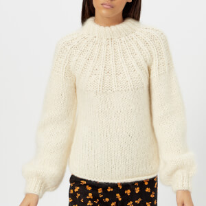 Ganni Women's The Julliard Mohair Jumper - Vanilla Ice