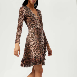 Ganni Women's Tilden Mesh Dress - Leopard