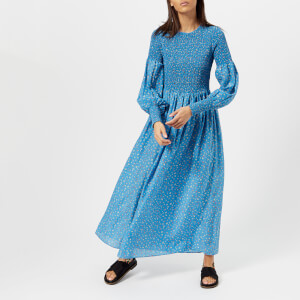 Ganni Women's Beacon Long Sleeve Dress - Marina