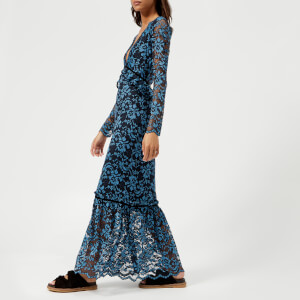 Ganni Women's Flynn Lace Dress - Total Eclipse
