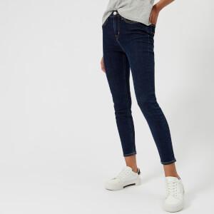 Calvin Klein Women's Skinny Ankle Length Jeans - Blue