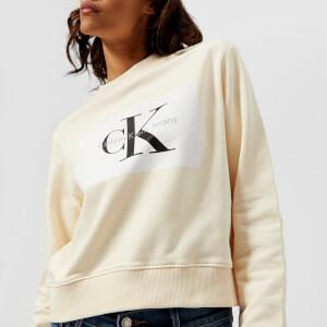 Calvin Klein Women's CK True Icon Sweatshirt - Pearled Ivory