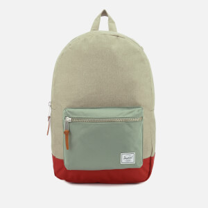 Herschel Supply Co. Men's Settlement Backpack - Light Khaki Crosshatch/Shadow/Brick Red