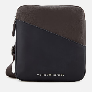 Tommy Hilfiger Men's TH Diagonal Mini Crossover Bag - Coffee Bean
